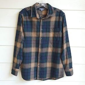 Eddie Bauer Long Sleeve Bristol plaid Shirt Sz M